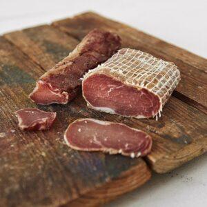 Сиров'ялене м'ясо від Шкварки- полядвиця та шовдир
